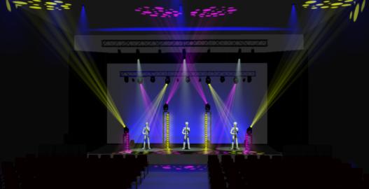Illustrative fixture layouts